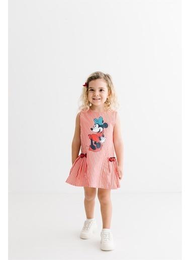 Minnie Mouse Lisanslı Çocuk Elbise 17367 Kırmızı